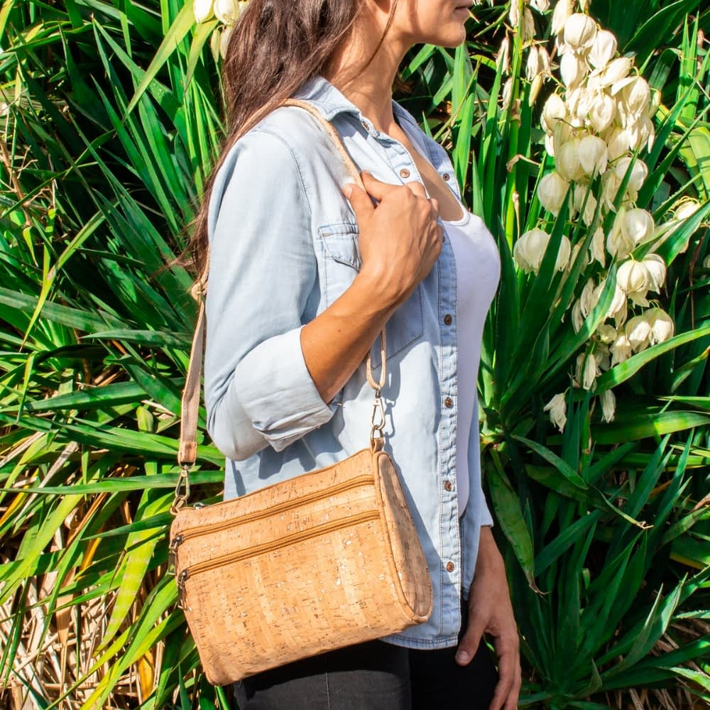 Cork bags cork Shoulder Bags for women natural cork with silver cork Original handmade crossbody bag BAG-161