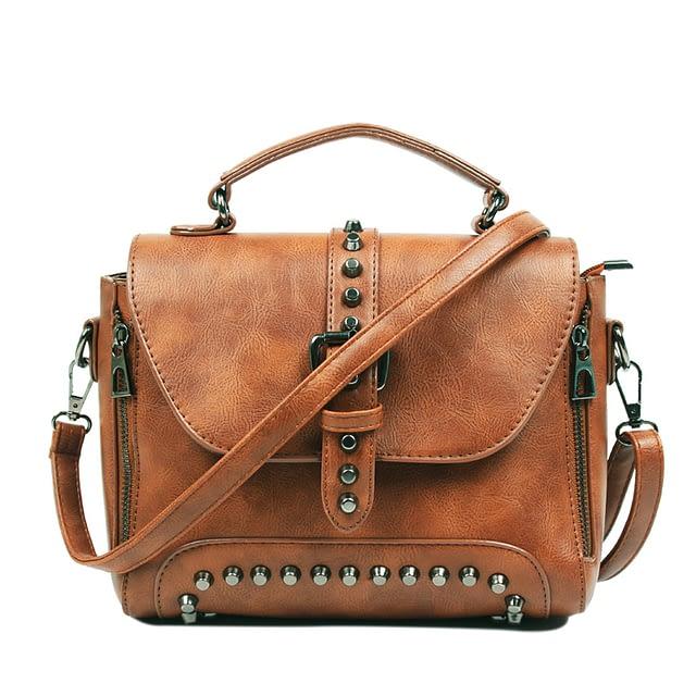 Women's Vintage Leather Shoulder Bag